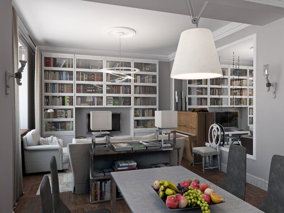 Дизайн проект квартиры 65 кв м