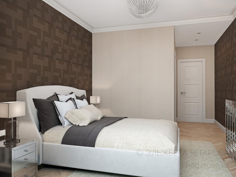 Спальня с гардеробной комнатой дизайн