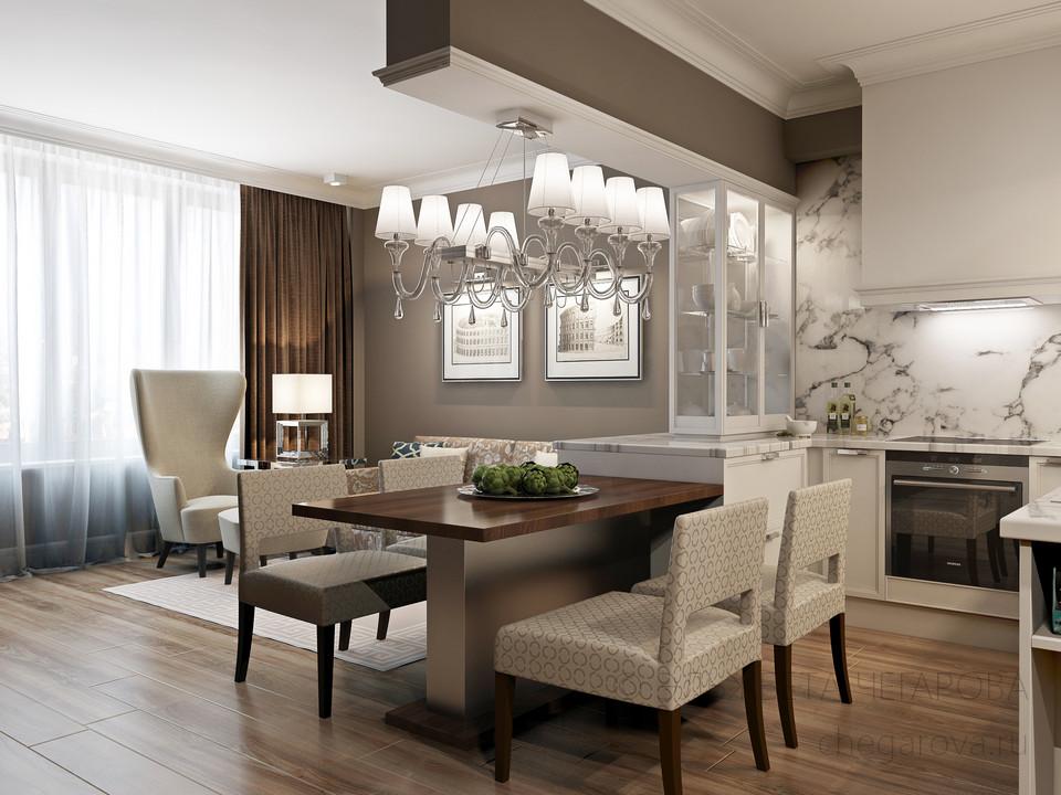 Дизайн интерьер кухня-гостиная 30 кв м