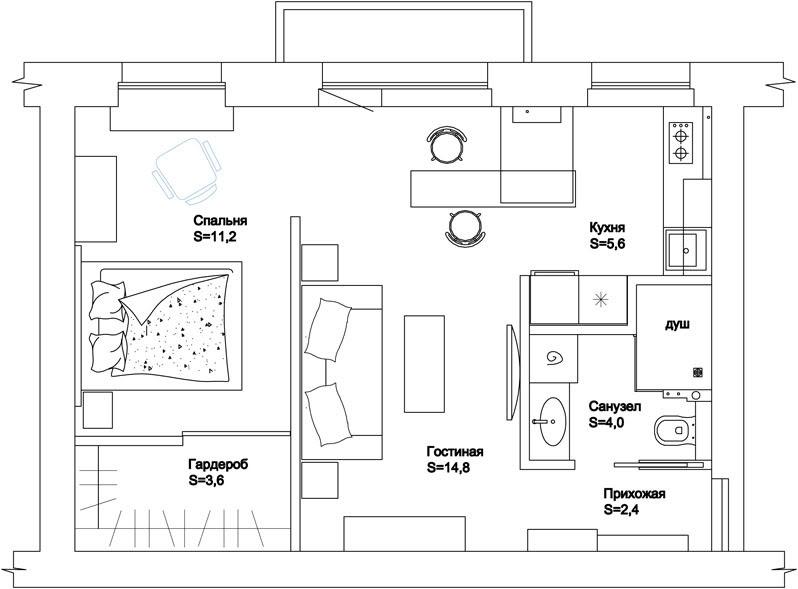 Перепланировка квартиры в Чите